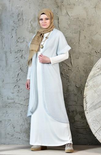 Necklace Vest Dress Double Suit 1817112-800 Ecru Beby Blue 1817112-800