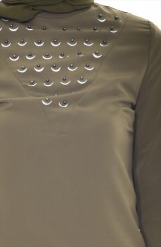Blouse Perlées 1160-03 Khaki 1160-03