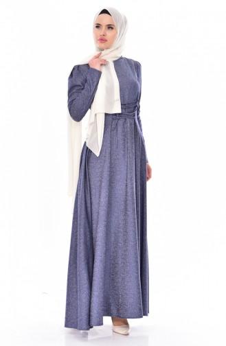 Jacquard Dress 7180-01 Indigo 7180-01