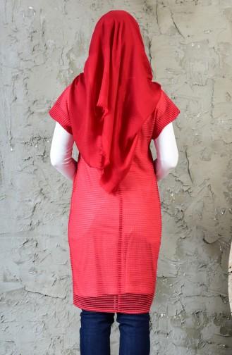 Tunik Yelek İkili Takım 1817077-300 Kırmızı Ekru