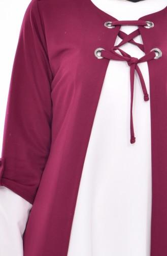 Jacket Tunic Double Suit 1902-04 Plum 1902-04