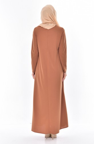 Robe avec Collier 3027-06 Tabac 3027-06