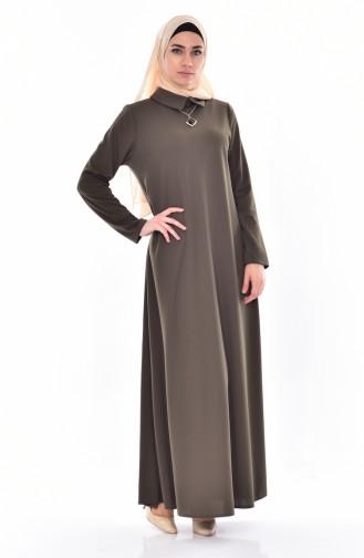 Robe avec Collier 3027-05 Vert 3027-05