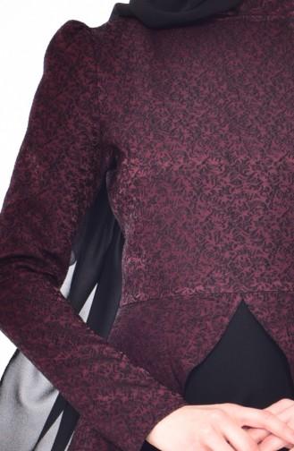 Robe Hijab Bordeaux 7178-02