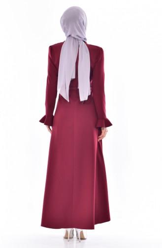 Robe a Ceinture 1084-04 Bordeaux 1084-04