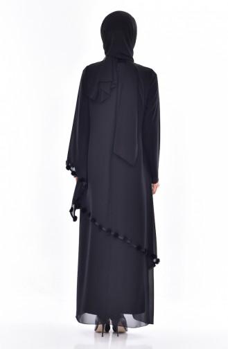 Black Hijab Dress 35820-01