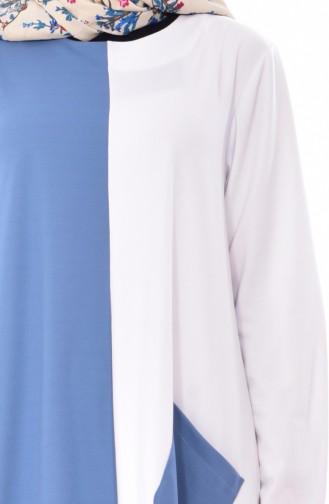 Robe Garnie 3314-02 İndigo Blanc 3314-02