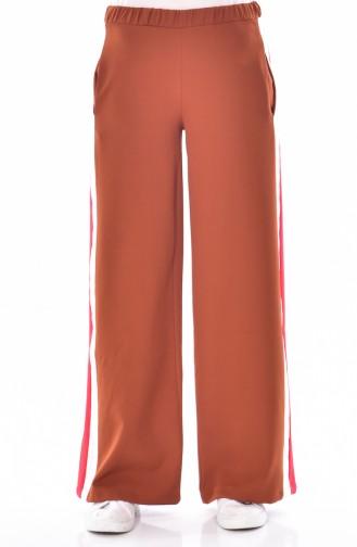 Weite Hose mit Gummi 2215-02 Ziegelrot 2215-02