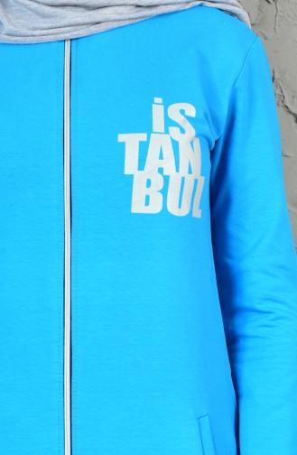 Printed Tracksuit Team 17007-14 Blue 17007-14