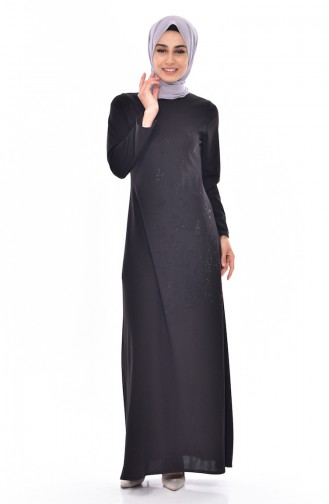 Dilber Authentic Stone Dress 6025-05 Black 6025-05