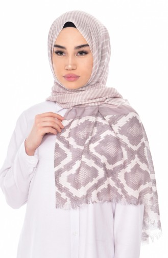 Patterned Flamed Shawl 95132-06 Mink 06