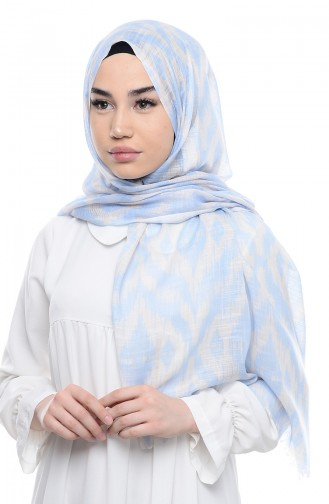 Patterned Flamed Shawl 95134-06 Ice blue 06