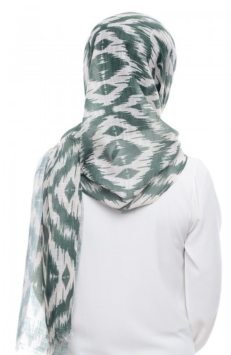 Patterned Flamed Shawl 95134-01 Grass  Green 01