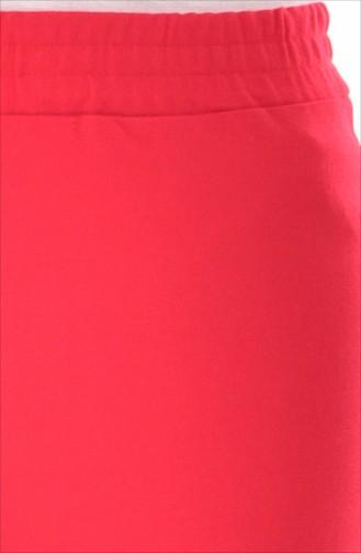 İspanyol Paça Pantolon 2005A-02 Kırmızı