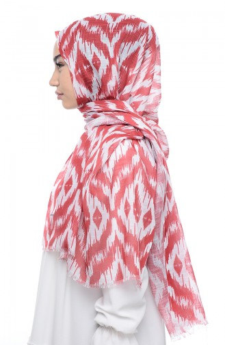 Patterned Flamed Shawl 95134-03 Red 03