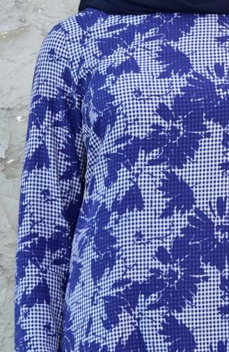 Tunique Basic a Motifs 1028-01 Bleu Marine 1028-01