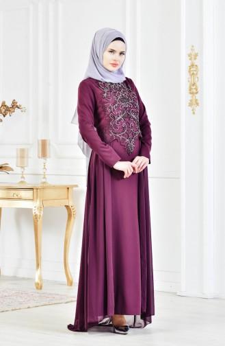 Damson İslamitische Avondjurk 52690-04