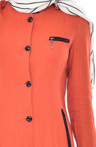 Cape a Boutons en Lin 1001-03 Orange 1001-03