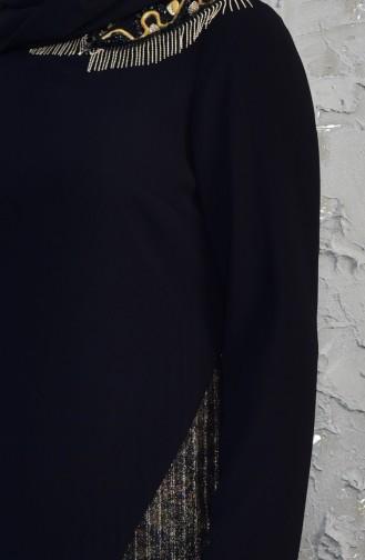 Ensemble Deux Pieces Bordée de Perles 1817038-205 Noir 1817038-205