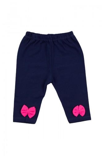 Baby Bow Detailed Capri Pants SFM030FSY-01 Fuchsia 030FSY-01
