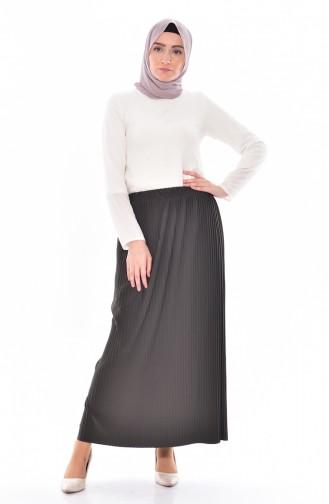 Plated Skirt 20971-02 Khaki 20971-02