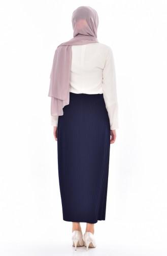 Plated Skirt 20971-05 Navy 20971-05