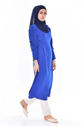 Tunique a Ceinture 49500-01 Bleu Roi 49500-01