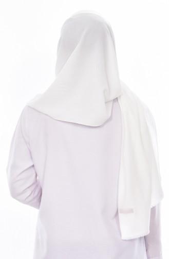 Châle Coton Couleur Simple 9918-01 Blanc 9918-01