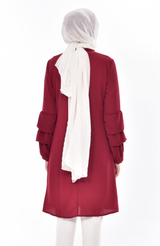 Claret red Tunic 2087-03