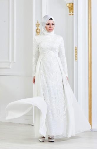 Habillé Hijab Ecru 8134-05
