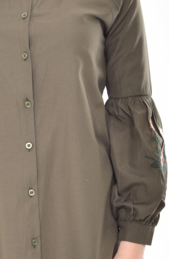 Tunique Chemise Bordée 0718-06 Khaki 0718-06