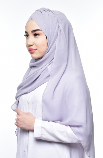 Boneli Cross Crepe Chiffon Shawl -05 Light Gray 05