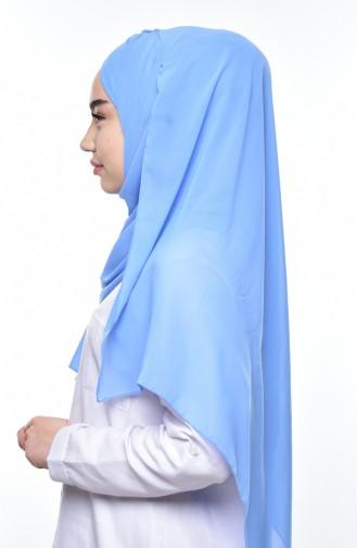 Boneli Çapraz Krep Şifon Şal -11 Bebe Mavisi 11