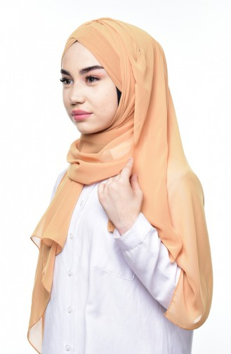 Boneli Cross Crepe Chiffon Shawl -03 Dark Yellow 03