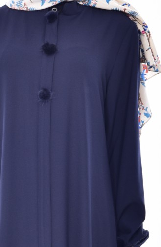 SUKRAN Pocket Pleated Cape 35804-03 Navy Blue 35804-03