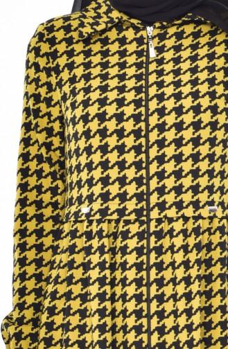 Cape a Motifs 0126-01 Noir Vert Pistache 0126-01