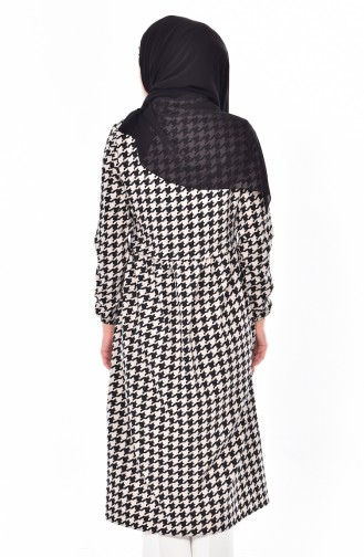 Crowbar Patterned Cap 0126-01 Black Beige 0126-02