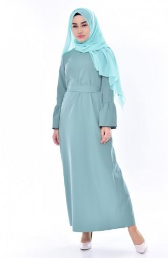 Green Almond Hijab Dress 60690-02