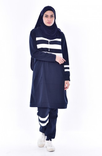 Hooded Tracksuit Suit 18069-05 Navy 18069-05