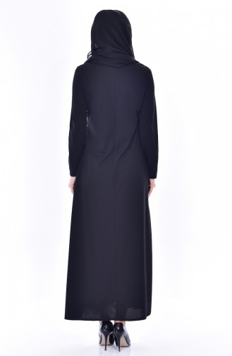 EFE Beading Embroidered Dress 0174-04 Black 0174-04