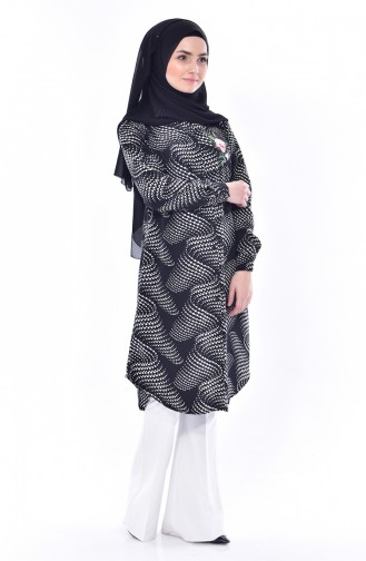 Embroidered Tunic 2324-01 Black 2324-01