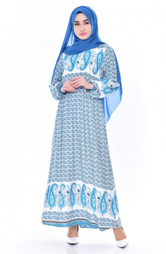 Turquoise Dress 5032-01