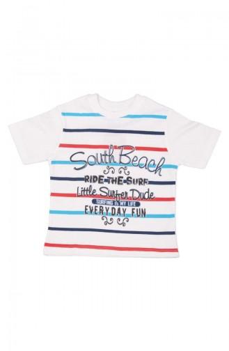 South Beach T-shirt SFM115BYZ-01 Blanc 115BYZ