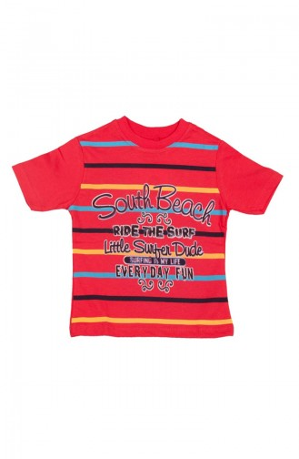 South Beach T-shirt SFM115KRMZ-01 Rouge 115KRMZ