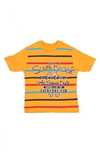 South Beach T-shirt SFM115SAR-01 Jaune 115SAR