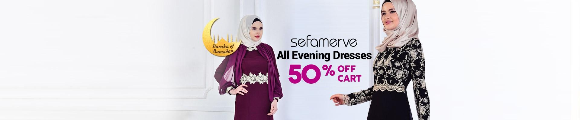All Evening Dresses %50 off cart