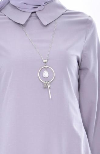 Tunika mit Halskette 2330-05 Grau 2330-05