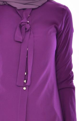 Tie Collar Tunic 1084-17 Baby Blue 1084-19