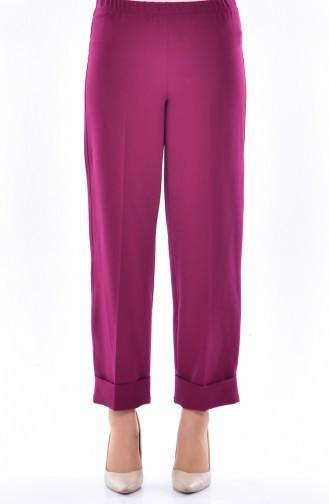 Double Cuff Pants 6002-02 Damson 6002-02