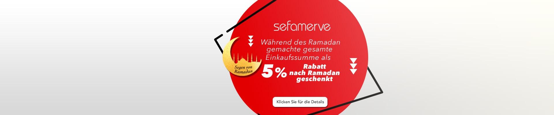 Während des Ramadan gemachte gesamte Einkaufssumme als 5% Rabatt